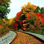 Wallpaper toamna pe calea ferata